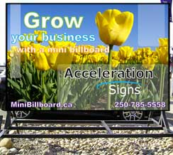 Acceleration Signs Mini Billboards